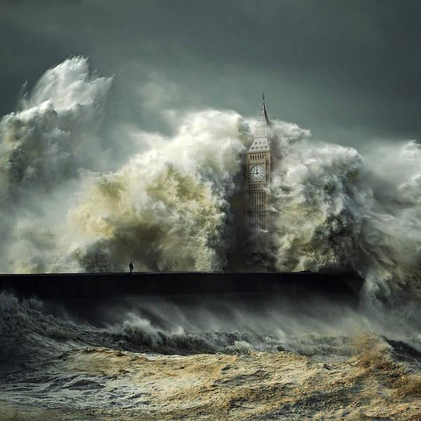 Manipulation Wall Art - Digital Art - Flood by Zoltan Toth