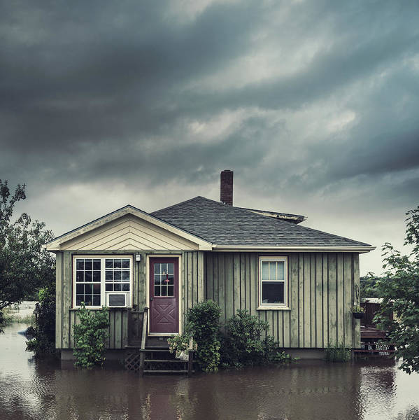 Damaged Photograph - Flooded Home by Shaunl