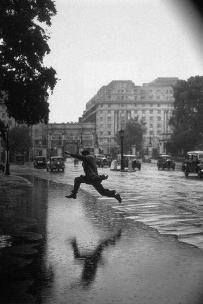 Jumping Photograph - Flooded Road by J A Hampton