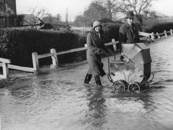 Adult Humor Photograph - Flooding At Twyford by Reg Speller