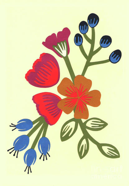 Bright Flowers Mixed Media - Flora, Cut Paper by Isobel Barber