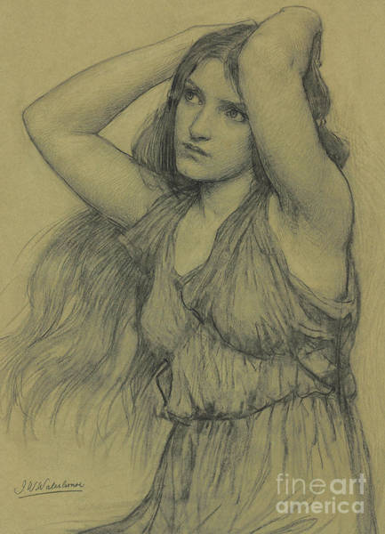 Wall Art - Pastel - Flora by John William Waterhouse