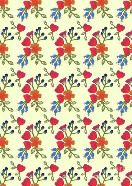 Bright Mixed Media - Flora Print, Cut Paper by Isobel Barber