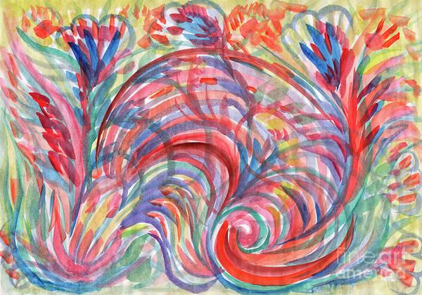 Painting - Floral Abstraction by Irina Dobrotsvet