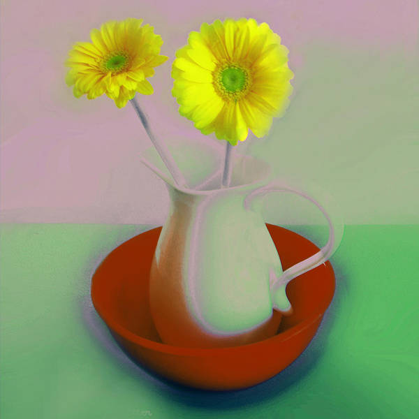 Digital Art - Floral Art 406 by Miss Pet Sitter