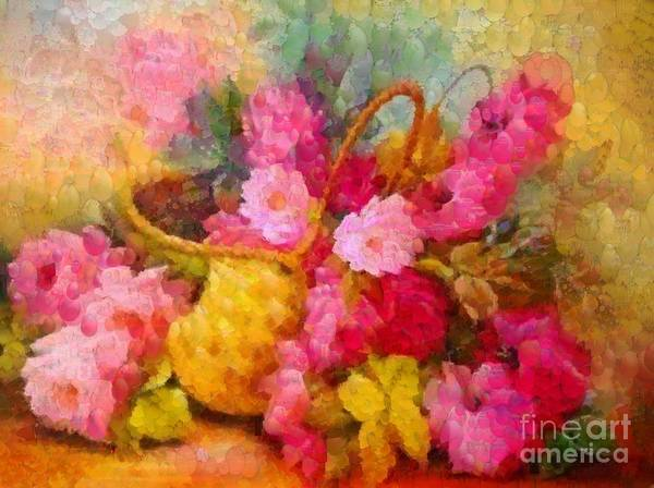 Painting - Floral Basket Pink by Catherine Lott