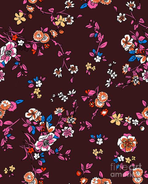 Wall Art - Digital Art - Floral Bohemian Seamless Pattern by Mikrop