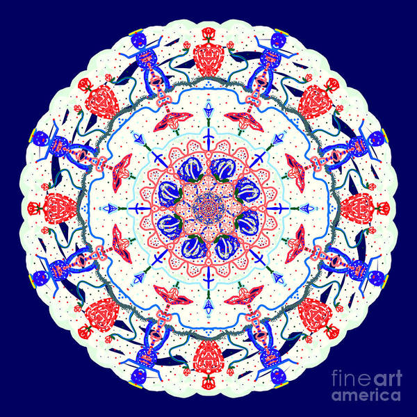 Painting - Floral Charactered Abstract Mandala by Catherine Lott