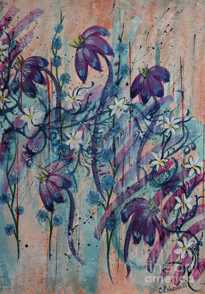 Painting - Floral Daydream Abstract  by Cathy Beharriell