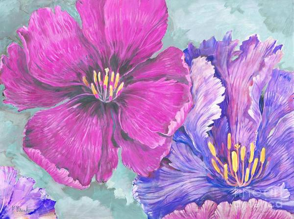 Wall Art - Painting - Floral Explosion - Bright by Paul Brent