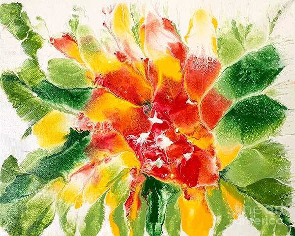 Painting - Floral Flourish 2 by Lon Chaffin