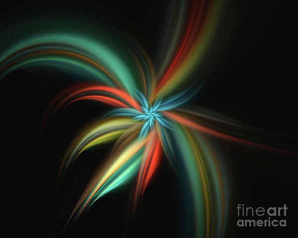Wall Art - Photograph - Floral Starburst  Fractal by Elaine Manley