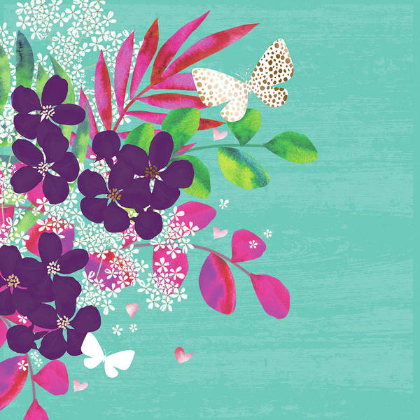 Wall Art - Digital Art - Floral Frenzy by P.s. Art