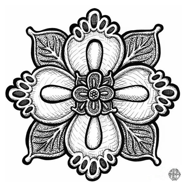 Drawing - Floral Icon 12 by Amy E Fraser