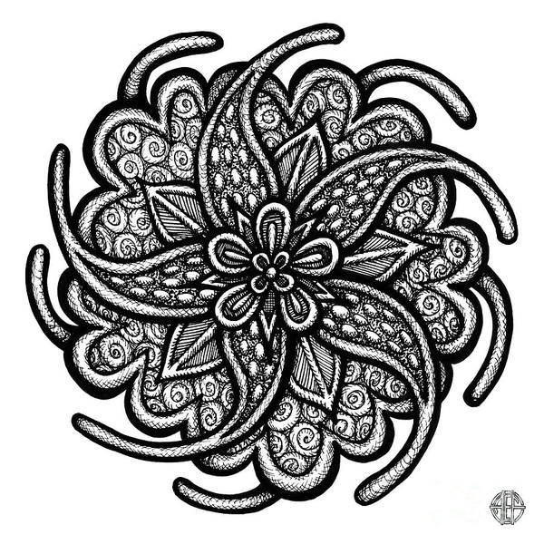 Drawing - Floral Icon 25 by Amy E Fraser