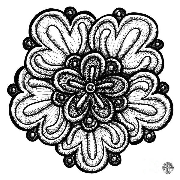 Drawing - Floral Icon 30 by Amy E Fraser