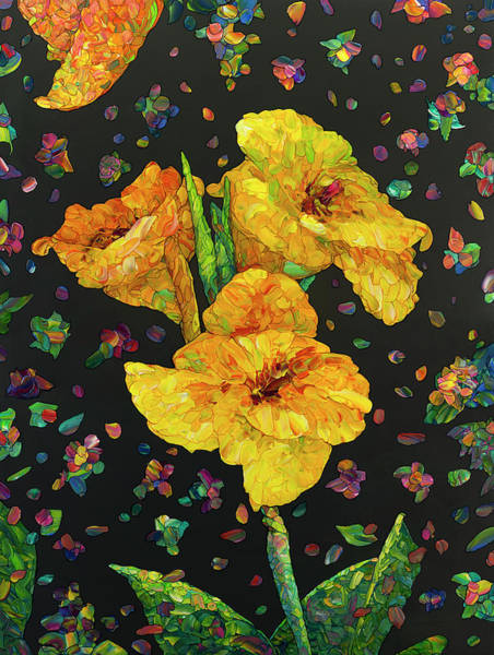 Painting - Floral Interpretation - Canna Lily by James W Johnson