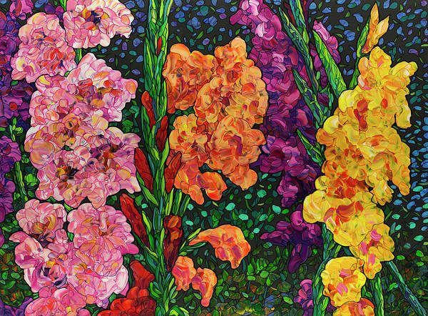 Wall Art - Painting - Floral Interpretation - Gladiolus by James W Johnson