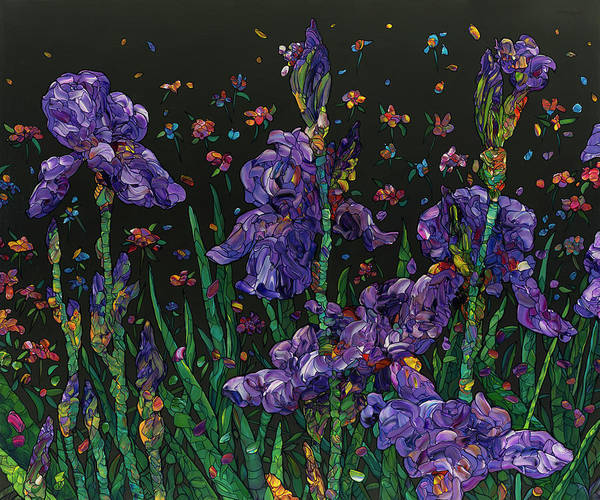 Wall Art - Painting - Floral Interpretation - Irises by James W Johnson