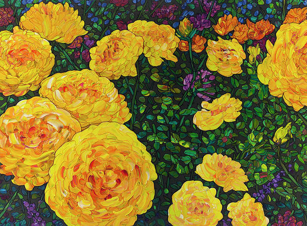 Painting - Floral Interpretation - Rosebush by James W Johnson