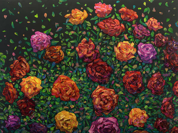 Painting - Floral Interpretation - Roses by James W Johnson