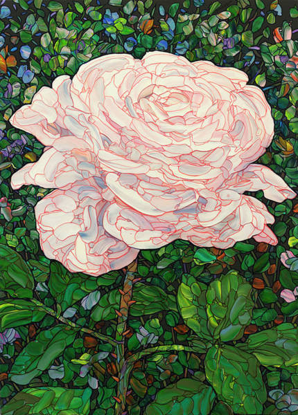 Painting - Floral Interpretation - White Rose by James W Johnson