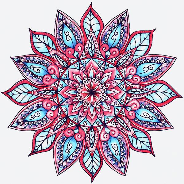 Painting - Floral Mandala - 01 by Andrea Mazzocchetti