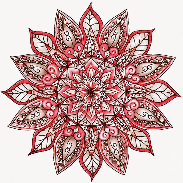 Painting - Floral Mandala - 02 by Andrea Mazzocchetti