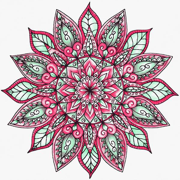 Painting - Floral Mandala - 03 by Andrea Mazzocchetti