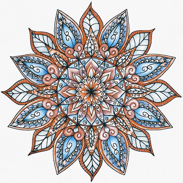 Painting - Floral Mandala - 04 by Andrea Mazzocchetti