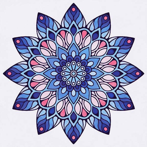 Painting - Floral Mandala - 06 by Andrea Mazzocchetti