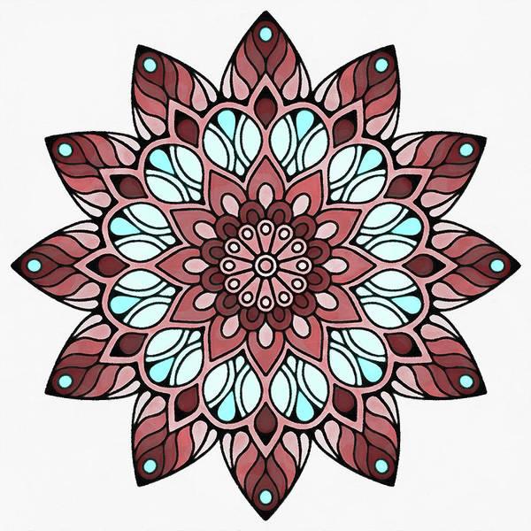 Painting - Floral Mandala - 08 by Andrea Mazzocchetti