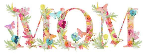 Wall Art - Mixed Media - Floral Mom by Lanie Loreth