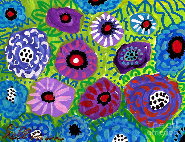 Wall Art - Mixed Media - Floral Pattern 3 by A Hillman