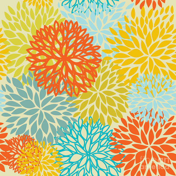 Organic Garden Wall Art - Digital Art - Floral Seamless Pattern by Mcherevan