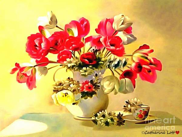 Painting - Floral Table Setting by Catherine Lott