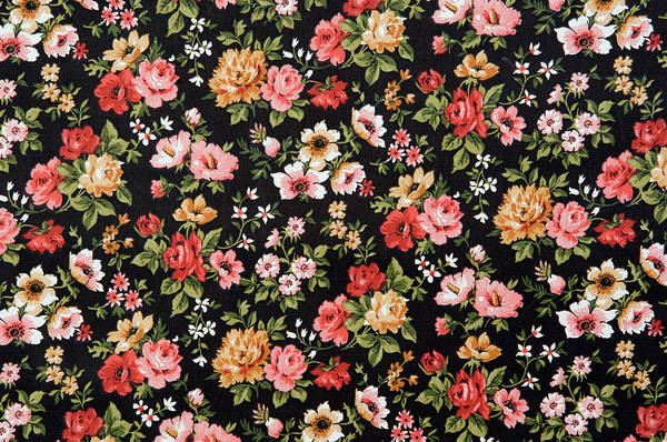 Kitsch Photograph - Floral Wallpaper Full Frame by Westend61