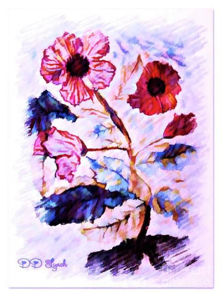 Digital Art - Floral Watercolor by Debra Lynch
