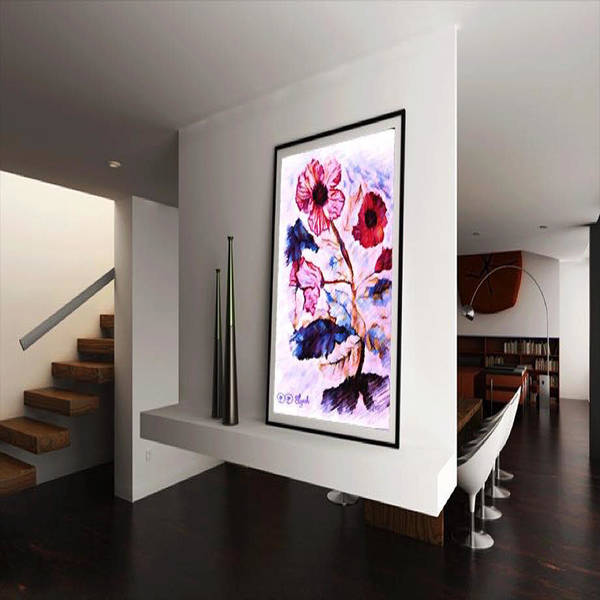 Digital Art - Floral Watercolor Interior Design by Debra Lynch