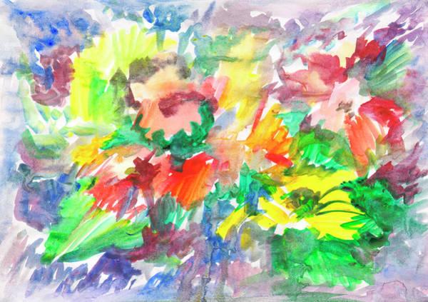Painting - Floral Watercolor Sketch by Irina Dobrotsvet