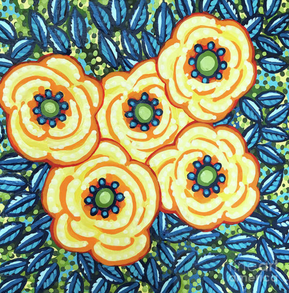 Painting - Floral Whimsy 7 by Amy E Fraser
