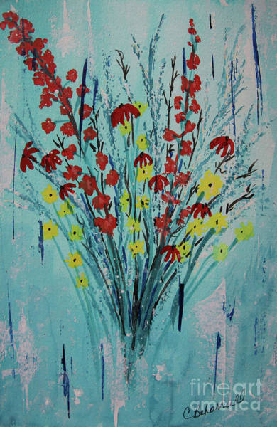 Painting - Floral Whispers Abstract  by Cathy Beharriell