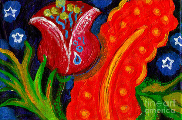 Wall Art - Painting - Florals At Night by Genevieve Esson