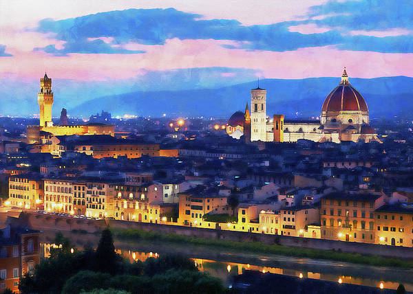 Painting - Florence - 24 by Andrea Mazzocchetti