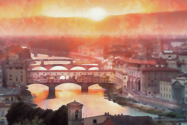 Painting - Florence - 26  by Andrea Mazzocchetti