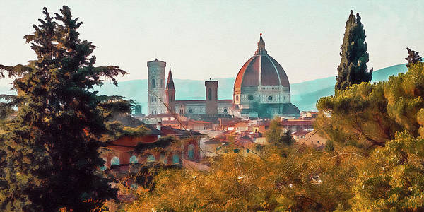 Painting - Florence - 28 by Andrea Mazzocchetti