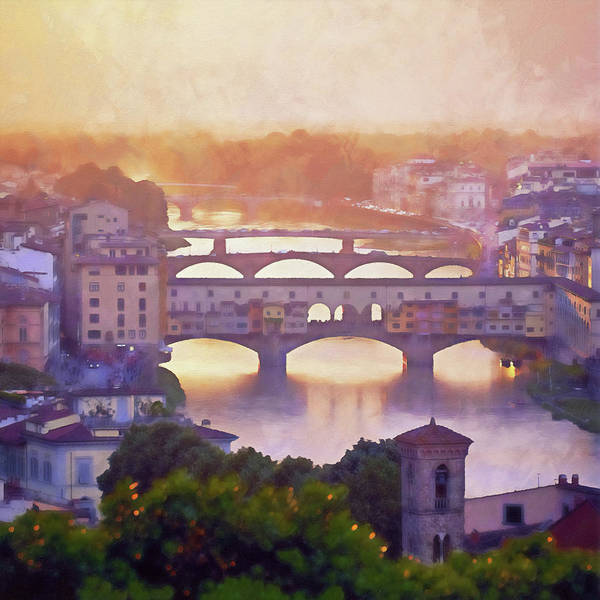 Painting - Florence - 29 by Andrea Mazzocchetti