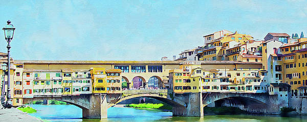 Painting - Florence - 30 by Andrea Mazzocchetti