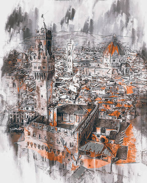 Painting - Florence - 32 by Andrea Mazzocchetti