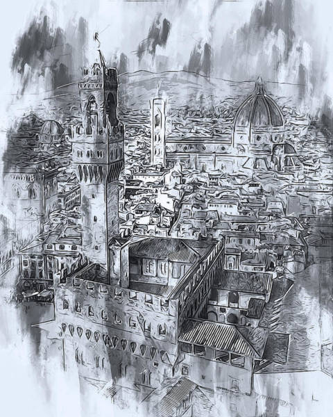 Painting - Florence - 33 by Andrea Mazzocchetti